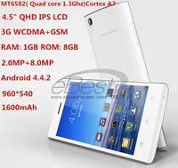 LEAGOO Lead 3S Smartphone Quad core 1.3GHz MTK6582 RAM 1G ROM 8GB Camera 8.0MP 4.5 inch IPS Android4.4.2 Dual SIM 3G Mobile