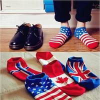 Men's and women sport socks cotton material autumn-winter sport boat socks for men excellent export flag socks 10 pairs/lot