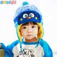 High Quality baby winter warm earmuffs hats & caps with velvet baby girls boys cartoon warm earmuffs bomber hats winter caps