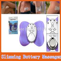 2pcs/lot Butterfly Design Losing Weight Burning Fat Slimming Body Massager Electric Vibrator Muscle Massageador