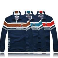 Brand New Mens Long Sleeve Tee T shirts Casual Tops Fashion 2014 Designer Men Classic Striped Long Sleeves T Shirt Size:XXXL-M