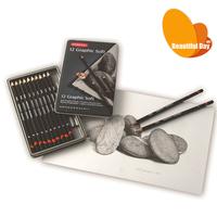 Derwent Professional Iron Box Gift Set Art Drawing Pencils