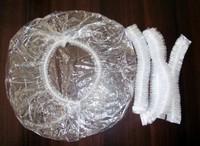 Hair Salon Disposable Clear Spa Home Shower Bathing Elastic Cap   free shipping