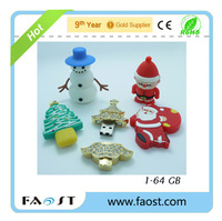 Green Christmas tree pvc usb flash drive for gifts with favourable discount