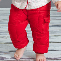 2015 new winter children clothes child clothing baby girl & boy trousers girls white duck down padded pants very warm &windproof