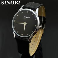 Hot Sinobi Brand Ultra-thin Case Causal Quartz Watch For Men 30M waterproof Fashion men watches Wholesale cheap