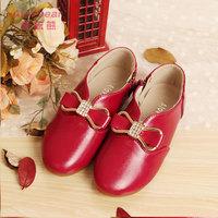 2014 fashion autumn children shoes rubber sole baby girl flats princess shoes