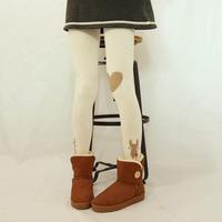 Hot Sale 2014 Cute Cartoon Bunny Women Winter Warm Tights Love Devil Print embroidery Skinny Slim Anime pantyhose