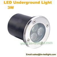 DHL Free Shipping 10pcs/lot factory direct sale 3W LED underground light IP67 Buried recessed floor outdoor lamp with AC85-265V