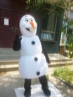 Frozen Snowman Olaf Mascot Costume High Quality Olaf mascot costume Adult Size School Mascot Fancy Dress Costumes
