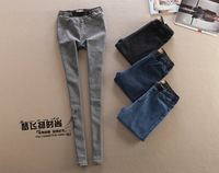 2014 Hitz stretch tight elastic waist feet Jeggings female jeans boots pants
