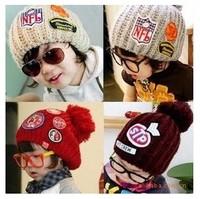 Free Shipping Autumn Winter Baby Hat Bonnet Style Kid Crochet Knitted Cap Lovely Infant's Knitting Headwear Retai