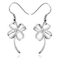 925 sterling silver earrings for women Four Leaf Clover earring ewelry wholesale