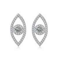 Unique Designer Fashion Fine Jewelry  Accessories Luxury AAA Zircon Evil Eyes Champagne Gold Stud Earrings For Women No Allergy