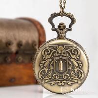 New Large bullet retro flip antique Pocket Watch necklace