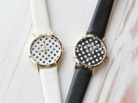 new ball dot watches 1pcs/lot quartz watch men women pu leather band wristwatch vintage steampunk style wholesale Free shipping