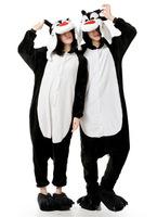 Free Shipping Animal Romper Mens Ladies Fleece Suits Onsie Fancy Dress Costume Onesie Pajamas S.M.L.XL * Black Wolf