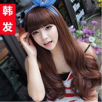 Korean Version Female Temperament Female Wig Long Curly Hair Wig New Bang Hair Fashion Female Hair Free Shipping