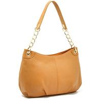 2014 Free shipping Wholesale Retail Orange PU leather women Shoulder Bags women casual Allligator&Chain belt handbags
