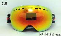 New arrival professional snow googles nice skiing mirror double layer lens ski googles spherical snowboard googles ski eyewear