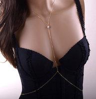 REINA Body Chain, Pearl Necklace, Lariat Necklace, Queen, Bridesmaids, Body Necklace, Bikini, Body Jewelry, Unique Gift LSBJ-018