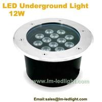 6PCS/LOT Waterproof IP6 outdoor 12W Cheap LED Underground light White warm white RGB for Garden LED Underground Lamp12W