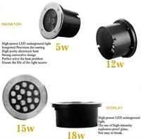 Free shipping DHL 6pcs15W LED underground light green LED buried light led emergency lamp 15W