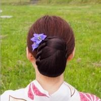 Hair bun Fake hair bun Buds head hair wig Clip on Fashion Girl Black Brown Female Studio dajf107