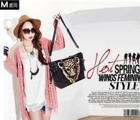 fashion sequins new 2014 fashion bling leopard head messenger bag cross body bags handbag sale party bags famous brand handbags