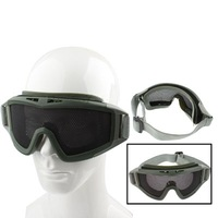 Steel Mesh Protective Goggles Mask (Army Green)