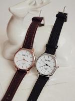 2014 vintage leather strap lady watches luxury brand women dress watches quartz casual men unisex wristwatch