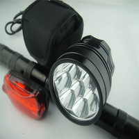 7X CREE T6 LED 9000Lm Front Bicycle light Bike Lamp Headlamp + 12000mAh Battery
