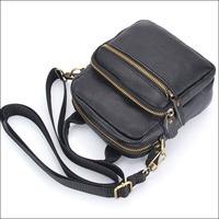 Wholesale New Genuine Leather Bag Women Unisex Men's Messenger Bags Fashion Casual Shoulder Handbags For Man Black Brown NO1455