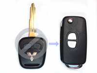 Brand New Hot 2 Buttons Modified Replacement Remote Case Cover Flip Folding Car Key Blank Shell Fob for Mitsubishi Lancer EVO X