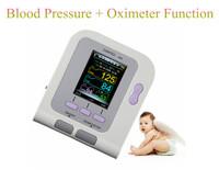 CONTEC 08A + SPO2 sensor Digital Automatic NIBP Blood Pressure Monitor Portable Pulse Monitor Sphygmomanometer Free Shipping