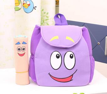 2015 saco escolares aventureiros dora cartoon mochilas pelúcia com mapa meninas jardim de infância o explorador saco de resgate(China (Mainland))