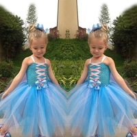 Christmas Girl Derss Gifts Children's Clothing Frozen Princess Elsa TUTU Dress Pretty Girl Tutu Party Dress 20pcs/Lot DHL Free s