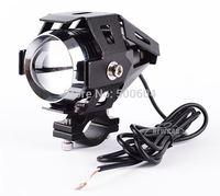 BLACK Cree 30W Led Motorcycle flash light Spot headlights 12-80v Projector lens Motorbike driving racing day light IP68 Fog lamp