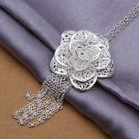 2014 New 925 silver fashion simple Rose Flower pendants wholesale women wedding pendant jewelry CP318