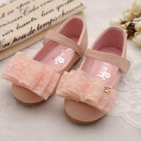 Non-Slip Sole Cute Girl Children Shoes bow knot Shoes Kids Princess Shoes Girls k03104