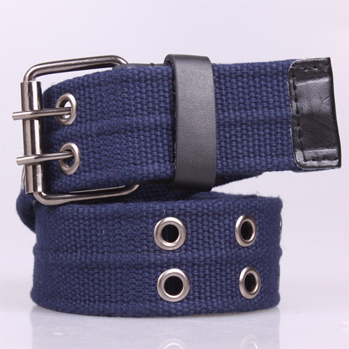 The New Double Pin Buckle Canvas Belts,Fashion Leisure Belt Unisex Belt For Mens And Women,Free Shipping! Q28(China (Mainland))