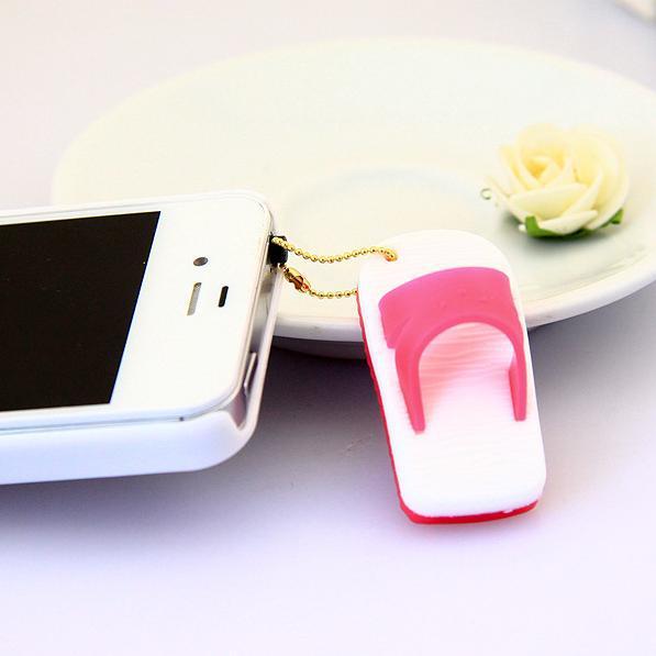 Wholesale Fashion Mobile Accesories Slippers Phone Dustproof Plug Phone Pendant SP123(China (Mainland))