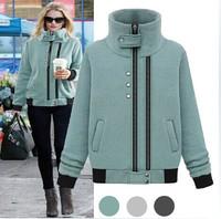 Womens ladies 2014 fashion star style fashionable casual 100% thickening cotton velvet sweatshirt women sports coats jackets