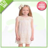 Dual 11 promotional pearl collar lace dress 2014 summer Korea board free shipping