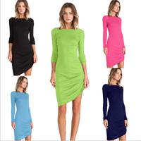 Fashion Modal Long Sleeve Casual Dress Women Spring Autumn Vestidos A-LINE Dress 20279