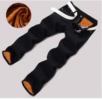 Plus velvet Thickening Business  Leisure  jeans men  Black  Straight  Trousers  Men skinny jeans pants  Winter Jeans  SIZE 28-38