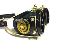 black gear steampunk Gothic Ski riding goggles motorcycle Protective oculos motocross goggles Windproof glasses feminino de sol