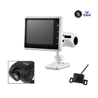 Newest High Quality HD Car DVR Car Black Box With Reversing Camera Smart Car Reverse Video System 3.5 Inch LTPS TFT LCD