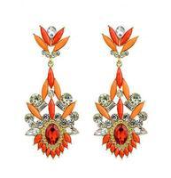 Wholesale Jewelry Fashion Rhinestoned Floral Earrings High Quality Designer Pendientes Brincos Bridal Wedding 8578