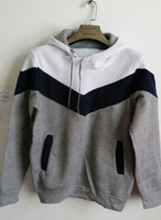 Hot Sale 2014 New Man Hoody Black Gray Stitching Pullover Fashion Autumn Men Sportswear Tracksuits Tops